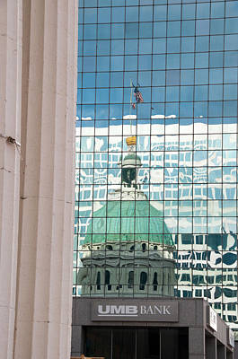 Photograph - Old Courthouse Reflection by Steve Stuller