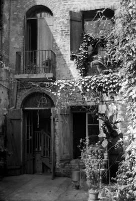 Photograph - Old Courtyard by Crescent City Collective
