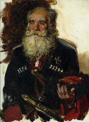 Painting - Old Coussack by Korobkin Anatoly