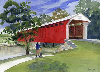 Old Covered Bridge At Eldean Original