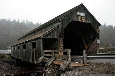 Photograph - Old Covered Bridge by John Warren