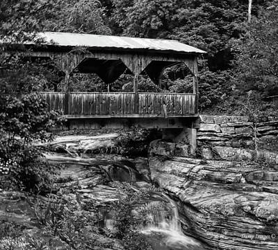 Photograph - Old Covered Bridge by Wesley Nesbitt