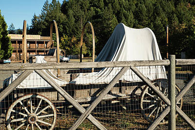 Photograph - Old Covered Wagon by Tom Cochran