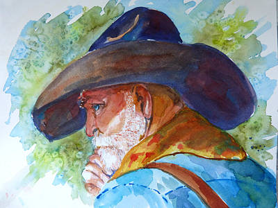 Painting - Old Cowboy by P Maure Bausch