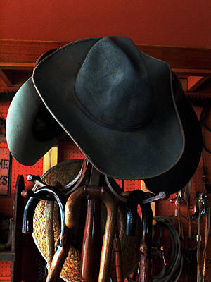 Art Print featuring the photograph Old Cowboys Never Die by Irma BACKELANT GALLERIES