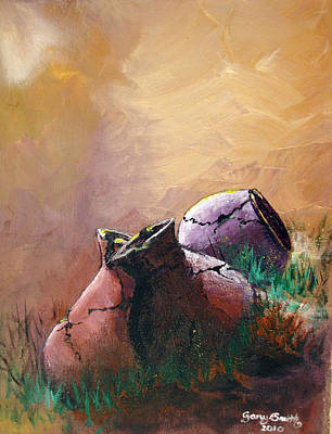Old Cracked Pots-sold Art Print by Gary Smith