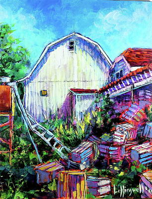 Painting - Old Crates by Les Leffingwell