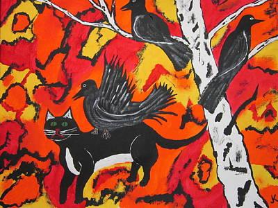 Old Crow Rodeo Art Print by Jeffrey Koss