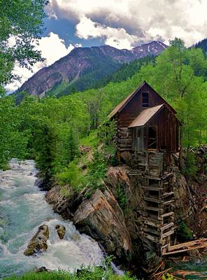 Old Crystal Mill Art Print