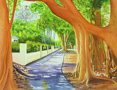 Wall Art - Painting - Old Cutler Banyans by Terry Arroyo Mulrooney