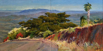 Painting - Old Cypress Near Temecula by Peter Salwen