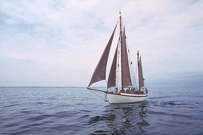 Old Wooden Sailboat Original by Kim Lessel
