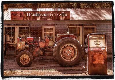 Old Days Vintage Print by Debra and Dave Vanderlaan
