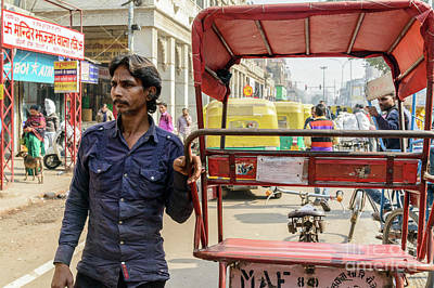 Photograph - Old Delhi From A Rickshaw 01 by Werner Padarin