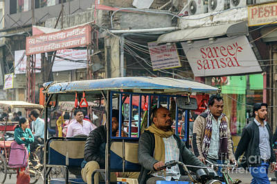 Photograph - Old Delhi From A Rickshaw 03 by Werner Padarin