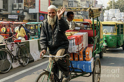 Photograph - Old Delhi From A Rickshaw 09 by Werner Padarin