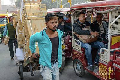 Photograph - Old Delhi From A Rickshaw 15 by Werner Padarin