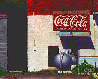 Coca Cola Signs Painting - Old Deli by Robert Henne