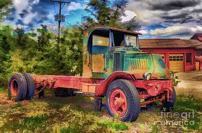 Memories Photograph - Old Delivery Truck by Arnie Goldstein