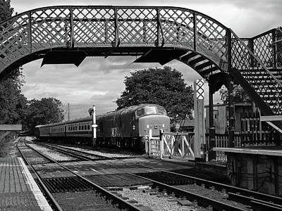 Train Station Photograph - Old Diesel Train In The Sidings In Mono by Gill Billington