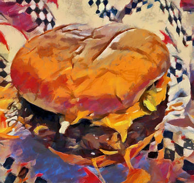 Painting - Old Diner Cheeseburger by Dan Sproul