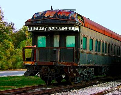 Old Dining Car Art Print