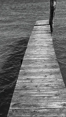 Photograph - Old Dock 10 Bw by Mary Bedy