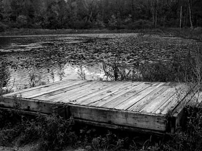 Indiana Landscapes Photograph - Old Dock At Dusk by Michael L Kimble