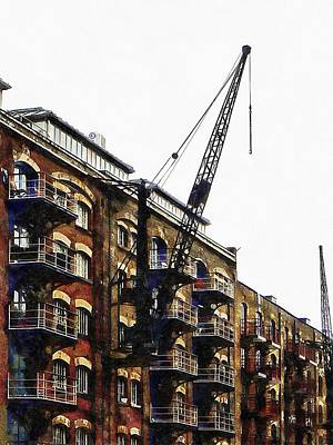 Photograph - Old Dock Crane At St Saviours Dock London by Dorothy Berry-Lound