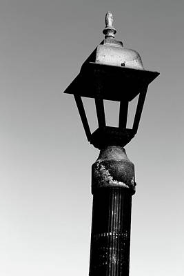 Photograph - Old Dock Light 5 Bw by Mary Bedy