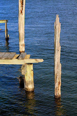 Photograph - Old Dock Remains by Mary Bedy