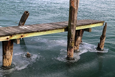 Photograph - Old Dock Winter 2017 1 by Mary Bedy