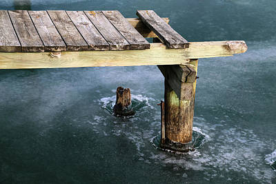 Photograph - Old Dock Winter 2017 2 by Mary Bedy