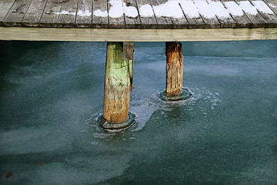 Photograph - Old Dock Winter 2017 by Mary Bedy