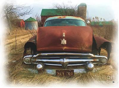 Dodge Truck Painting - Old Dodge Farm by Anthony Djordjevic