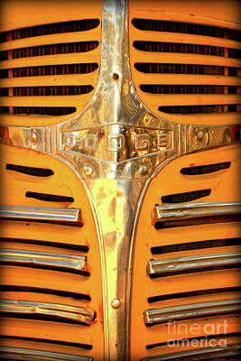 Photograph - Old Dodge Grill by Carol Groenen