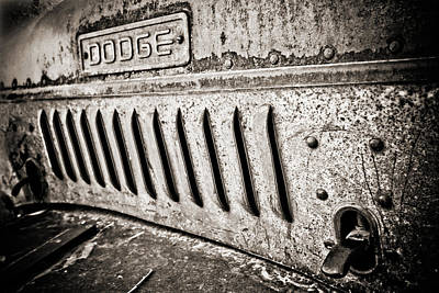 Photograph - Old Dodge Grille by Marilyn Hunt