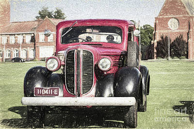 Digital Art - Old Dodge by Howard Ferrier