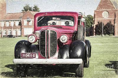 Digital Art - Old Dodge by Howard Ferrier