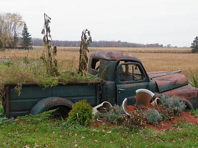 Photograph - Old Dodge  New Job by Peggy King