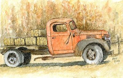 Old Dodge Truck In Autumn Art Print