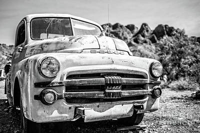 Dodge Truck Wall Art - Photograph - Old Dodge Truck In The Desert by Edward Fielding