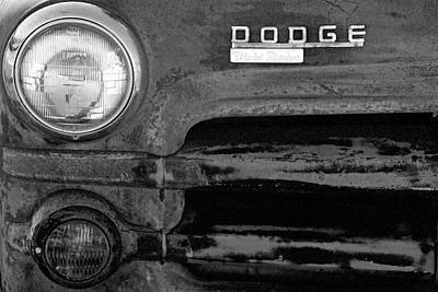 Photograph - Old Dodge Truck - Rust Bucket - Bw - Water Paper 01 by Pamela Critchlow