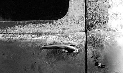 Photograph - Old Dodge Truck - Rust Bucket - Bw - Water Paper 05 by Pamela Critchlow
