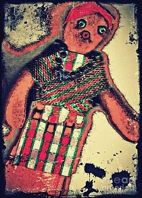 Handcrafted Digital Art - Old Doll by Sarah Loft