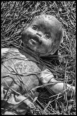 Photograph - Old Dolls In Grass by Matthew Pace