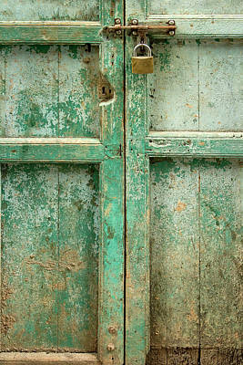 Lock Photograph - Old Door by Adam Romanowicz