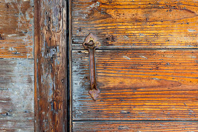 Photograph - Old Door  Handle by Derek Dean