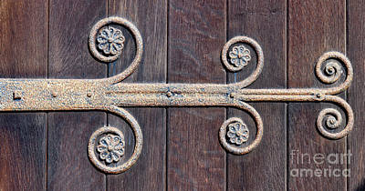 Photograph - Old Door Hinge by Colin Rayner