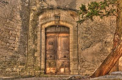 Photograph - Old Door In Gordes by CR  Courson